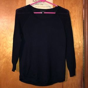 J.Crew Merino Wool Mesh-Sleeve Sweater